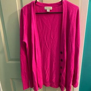 Forever 21+ pink cardigan- size 1X